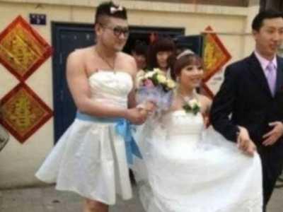 天津最抢眼的伴娘 男伴娘太过抢眼毁三观